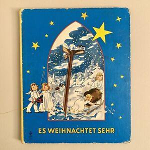 ✅ Pappseiten Buch Kind ALT Engel Es weihnachtet sehr 19x23cm L.HABICHER Vintage