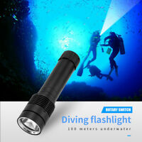 1× LED XM-L2 LED  26650 Scuba Waterproof Diving Underwater 100M Flashlight Torch