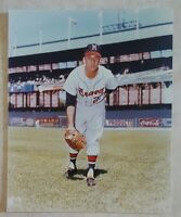 WARREN SPAIN 8 X 10 PHOTO GLOSSY LICENSED MILWAUKEE BRAVES PICTURE A