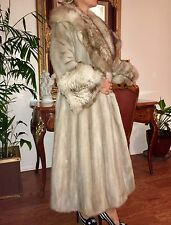 $8k Real blue gray sapphire mink coat, full length from Saks Fifth Avenue M/L