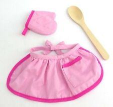 "Lovvbugg Pink Cooking Baking Apron Mitt Set for 18"" American Girl Doll Clothes"