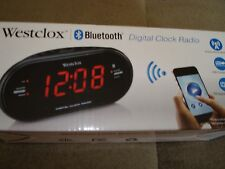 Westclox Bluetooth Digital Clock Radio 81012Bt