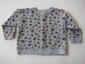 Vintage Hanes Cotton Grey Football Sports Crew Neck Sweatshirt Kids Size 2T