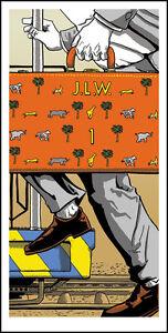 DARJEELING LIMITED Wes Anderson silkscreen print by Tim Doyle Nakatomi Artist
