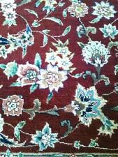 Rich Super Fine Hand Knotted, Wool & Silk Area Rug 6x9