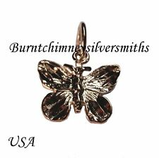 14K Gold Overlay Butterfly Charm insect Diamond Cut