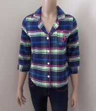 NWT Abercrombie Womens Plaid Sleep Shirt Size XS Pajama Top