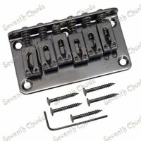 1 Set in Black Guitar Hardtail Fixed Bridge Fit Schecter,Ibanez,Washburn,ESP LTD