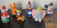 "Lot 6 Vintage Walt Disney Productions 9"" Ceramic Mickey Donald Duck figurines"