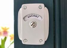 CHROME VACANT ENGAGED TOILET BATHROOM LOCK BOLT INDICATOR DOOR DECO KNOB HANDLES