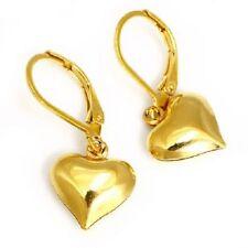 Titan Damen Titanium Ohrhänger Creolen Ohrringe Brisurhänger Herzen vergoldet