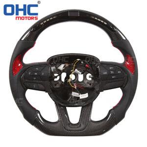 Real Carbon Fiber LED Steering Wheel for Dodge Charger Challenger OHC Motors