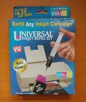 OnTel Universal Inkjet Refill Kit Black Ink Refill Any Inkjet Cartridge cool A1