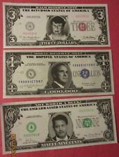 Janet Reno, Bob Dole, Al Gore 1990 Novelty Dollar Bills