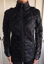 Lululemon Size 6 Run Turn Around Down Jacket Black Gray Reversible Puffer Coat