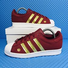 Adidas Superstar Women's Athletic Casual Sneaker Suede Burgundy Lifestyle Shoe