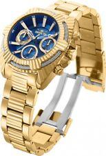 New Womens Invicta 27187 Bolt Viper Chronograph Gold Tone Bracelet Watch