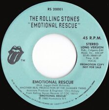 Rolling Stones ORIG US Promo 45 Emotional rescue EX '80 RS20001 Blues Rock