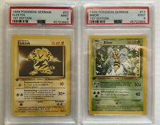 Psa 9 Electabuzz Elektek And Beedrill Bibor Pokemon German Base Set 1st Edition.