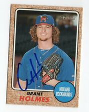 GRANT HOLMES Signed Autographed 2017 Topps Heritage Minors Card Auto #182 COA