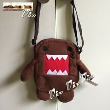 Domo Kun Small Bag Cute Gift Soft Brown Plush Shoulder Bag Girl or Boy`s Gift 1#