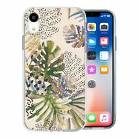 For Apple iPhone XR Silicone Case Nature Leafs Art Print - S6922