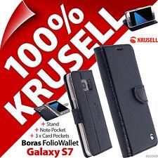 Krusell Boras Rabattable Pied Portefeuille étui pour Samsung Galaxy S7