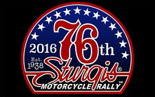 New listing 2016 Sturgis Rally Motorcycle Flag (3' X 5') 76 Logo Sturgis Biker Flag