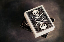2 x Bicycle Skull and Bone Playing Card Deck -Black NEW -  AIR CUSHION FINISH