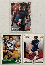 ✺Signed✺ 3 x Andrew Johns (Knights) Lot of NRL Rugby League cards