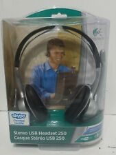Logitech Stereo USB Headset 250 W/Noise Cancelling Microphone PC/MAC NEW OOP