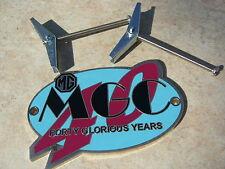 MG RARE MGC 40 GLORIOUS YEARS ENAMEL & CHROME GRILLE BADGE MGC GT TOURER MINT
