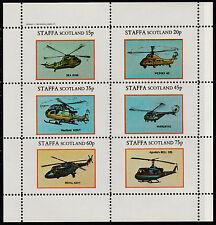 GB gente del posto-staffa (1148) 1982 elicotteri PERF SHEETLET unmounted Nuovo di zecca