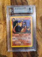 2000 Pokemon TCG Team Rocket Dark Charizard 21/82 BGS 9 MINT Non Holo
