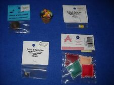Miniature accessories: bushel of fruit, Parkay box etc., 1:12 scale, Nib, lot #3