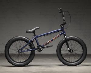"2022 KINK BMX KICKER 18 INCH COMPLETE BIKE MATTE MIDNIGHT BLUE 18""  FIT CULT"