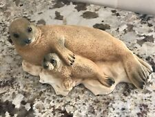 Castagna Seal Figurine Sculpture Made In Italy 1991 Alabaster Brown Excellent!