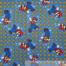 BonEful Fabric FQ Cotton Quilt Super Mario Brothers Nintendo Game Boy Coin Star