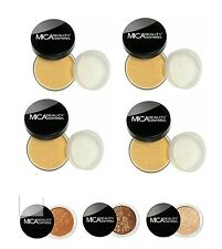 MICA BEAUTY 4X FOUNDATIONS PICK YOUR COLORS + 3 SHIMMERS 8.9 AND 39