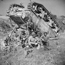 WW2 Photo WWII  British RAC M4 Sherman Tank Tea Time 1944 World War Two/ 3138