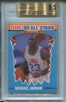 1990 Fleer Basketball All Star #5 Michael Jordan Bulls Card BGS Gem Mint 9.5