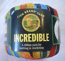 Lion Brand INCREDIBLE Yarn City Lights 203 FUN Vintage Ribbon 50 Grams