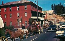 IVY HOUSE & PARDE ON MAIN STREET, PLACERVILLE, CALIFORNIA, VINTAGE POSTCARD