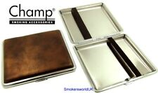 Cigarette Case -- Champ Vintage Leatherette Bronze 20 King Size -- NEW chks30