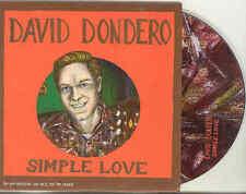 David Dondero Simple Love 2007 Advance Cardcover CD