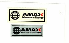 New listing Set Of 2 Nice Amax Minerals & Energy Coal Co. Coal Mining Stickers # 1053