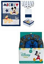 5 Pieces Disney Mickey Mouse Let'S Go Mickey Ii Crib Bedding Set & Head Support