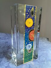 Signed Hand Painted Kisslinger Handarbeit STUNNING Art Glass Vase Beautiful!