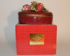 Fitz & Floyd Classics Renaissance Fruit Large Oval Box with Lid 6 3/4""