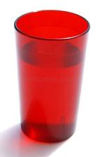 12 OZ RED 12PK Restaurant Break Resistant Drinking Glass Cups PLASTIC TUMBLERS .